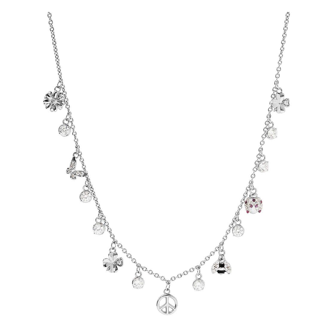 Collana donna Rosato Gaia in argento 925  con simboli primavera RZGA01