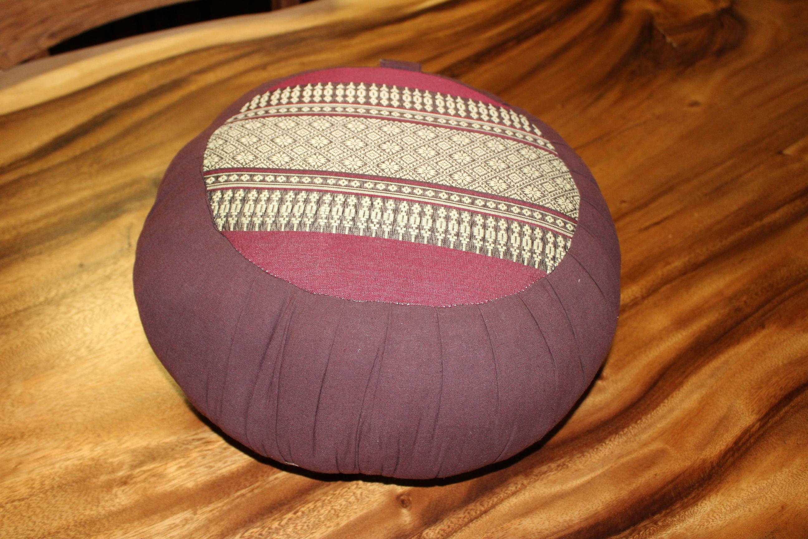 Cuscino yoga thai fabric mod. ZAFU con maniglia in cotone