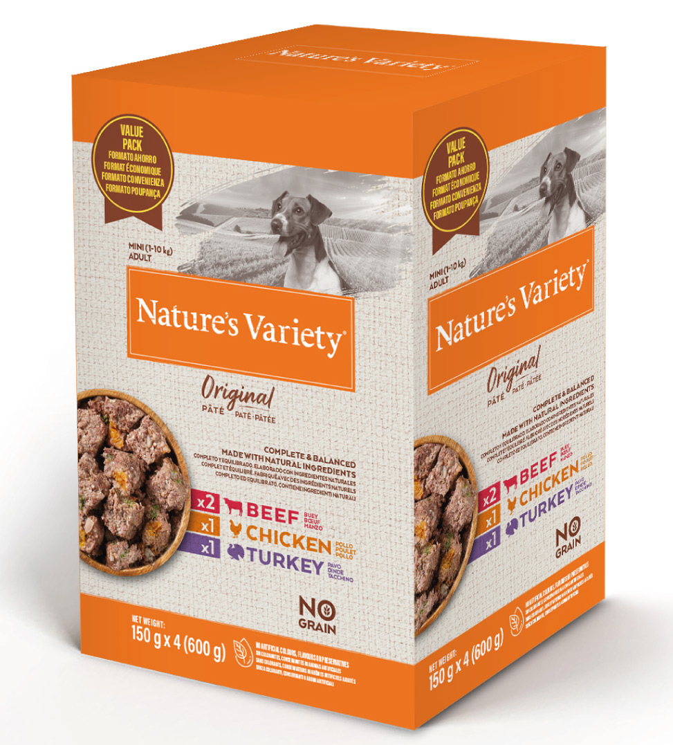 Nature's Variety - Original Dog - No Grain - Mini - Adult - Multipack - 4 x 150gr