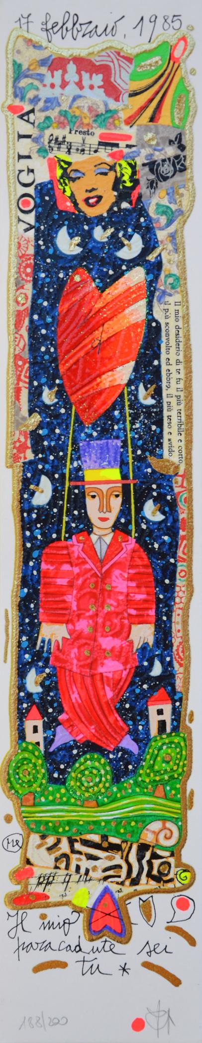 Musante Francesco Serigrafia polimaterica Formato cm 50x10