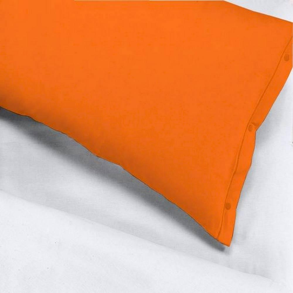 Coppia Federe con bottoni arancione