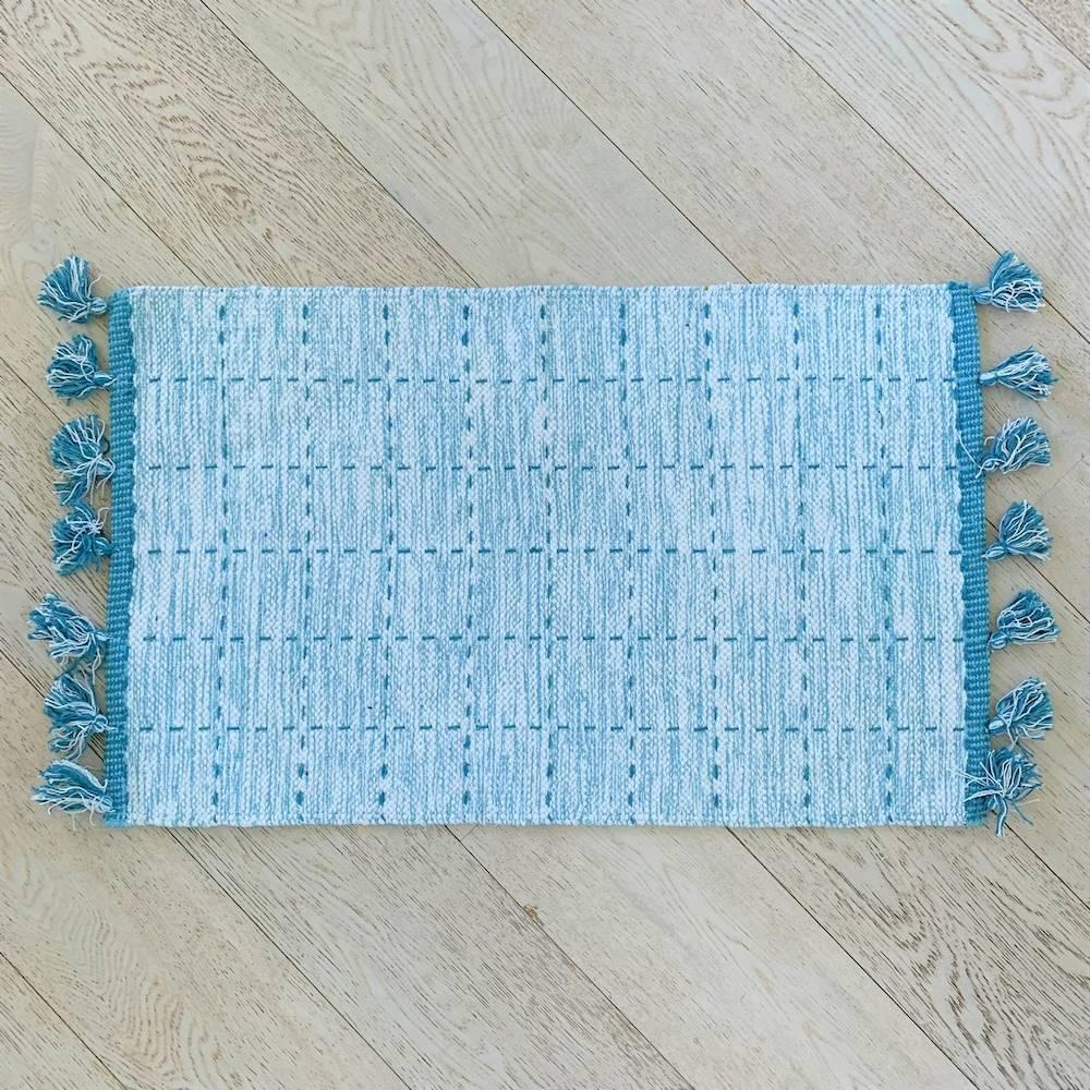 Tappeto Tiago azzurro 50 x 80