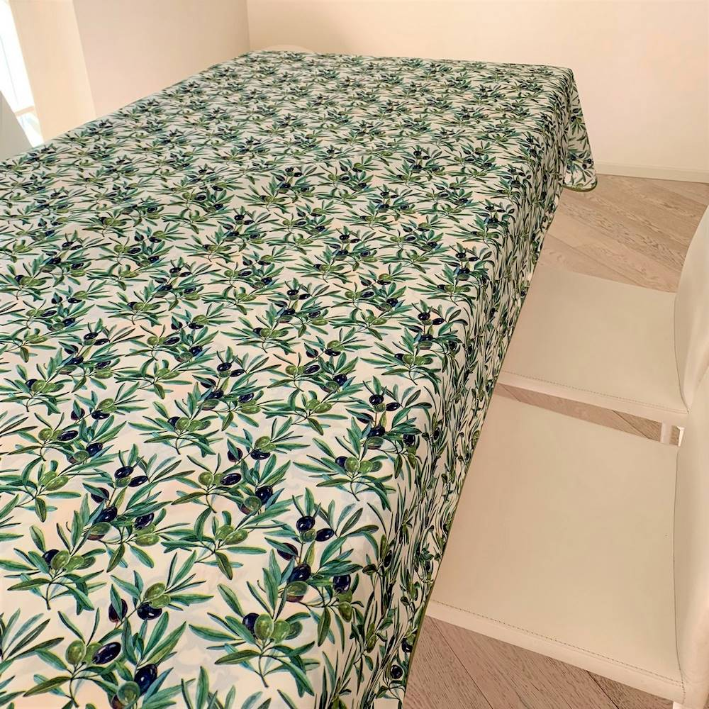 Tovaglia antimacchia Olive 140 x 230