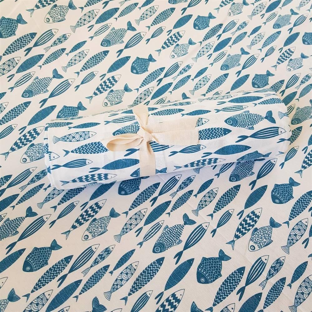Telo Granfoulard copritutto Pesciolini 260 x 280