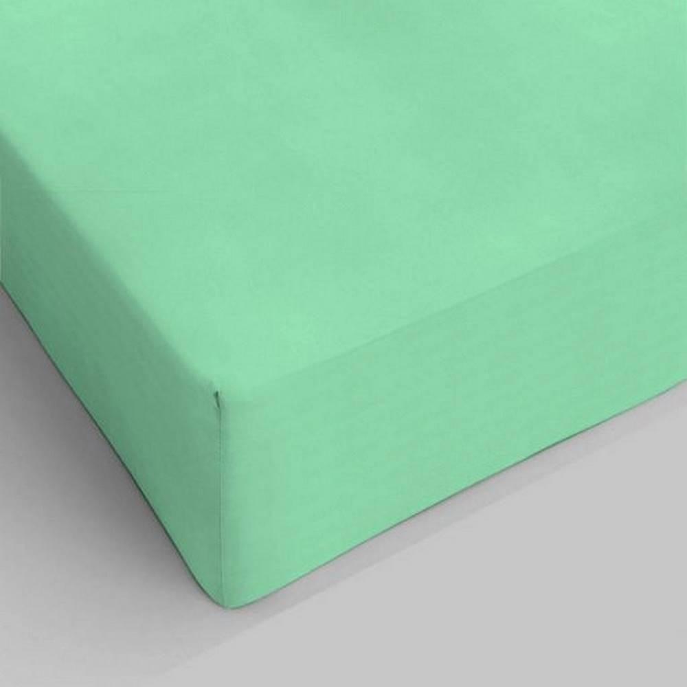 Lenzuolo da sotto con angoli verde singolo