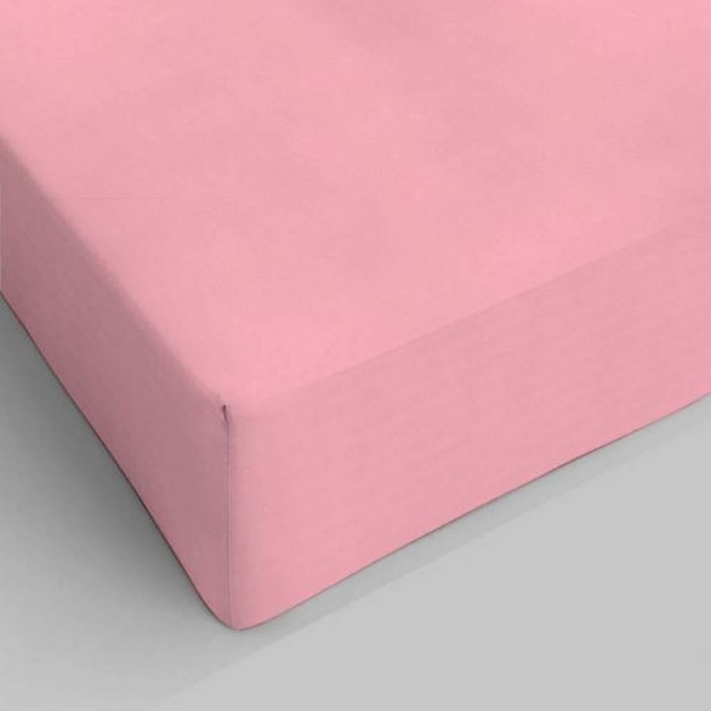 Lenzuolo da sotto con angoli rosa singolo
