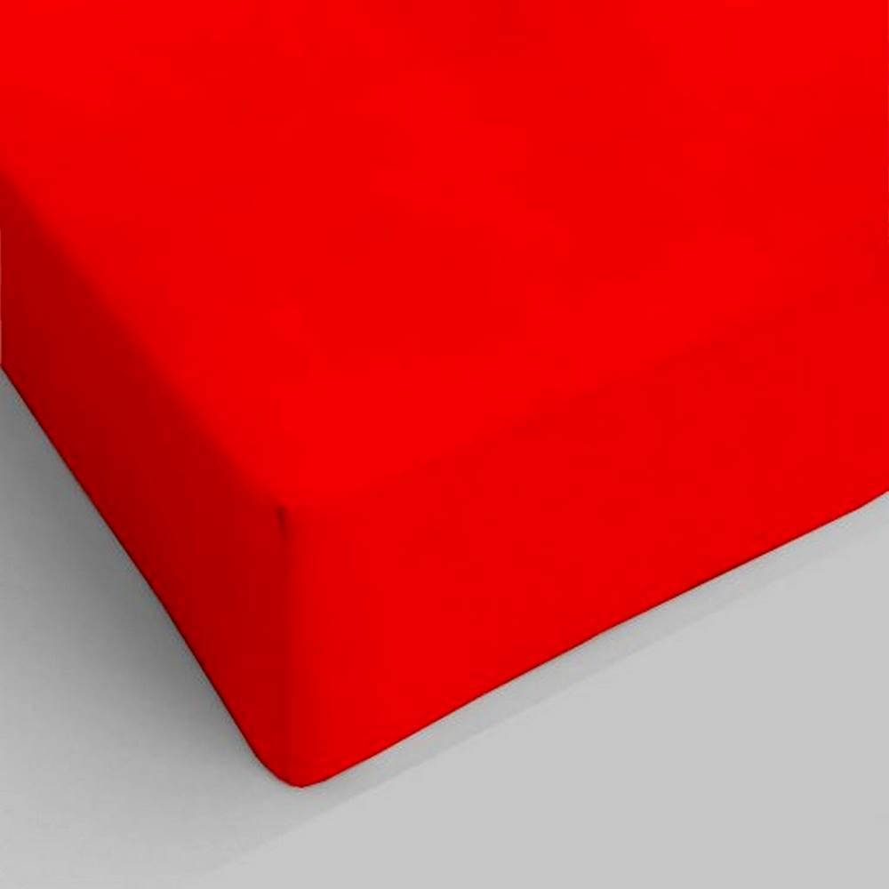 Lenzuolo da sotto con angoli rosso singolo