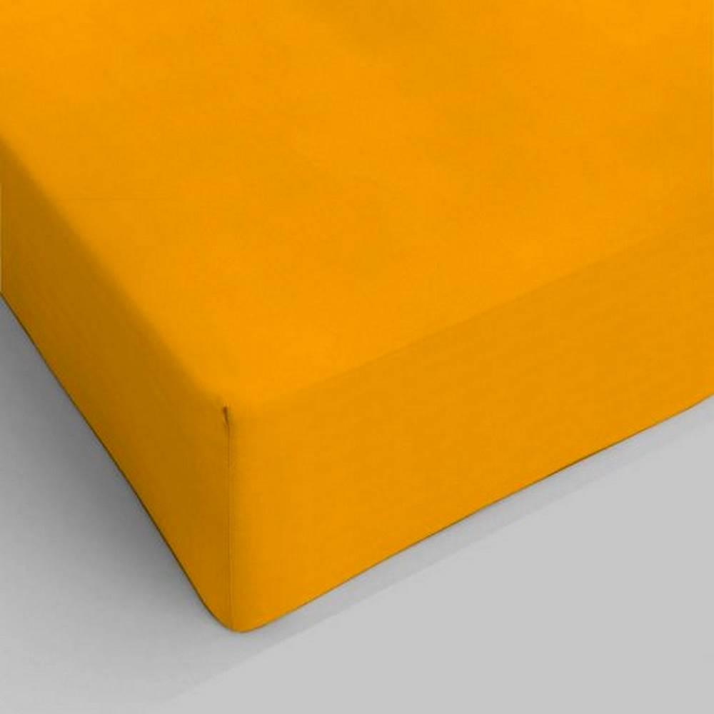 Lenzuolo da sotto con angoli giallo ocra singolo