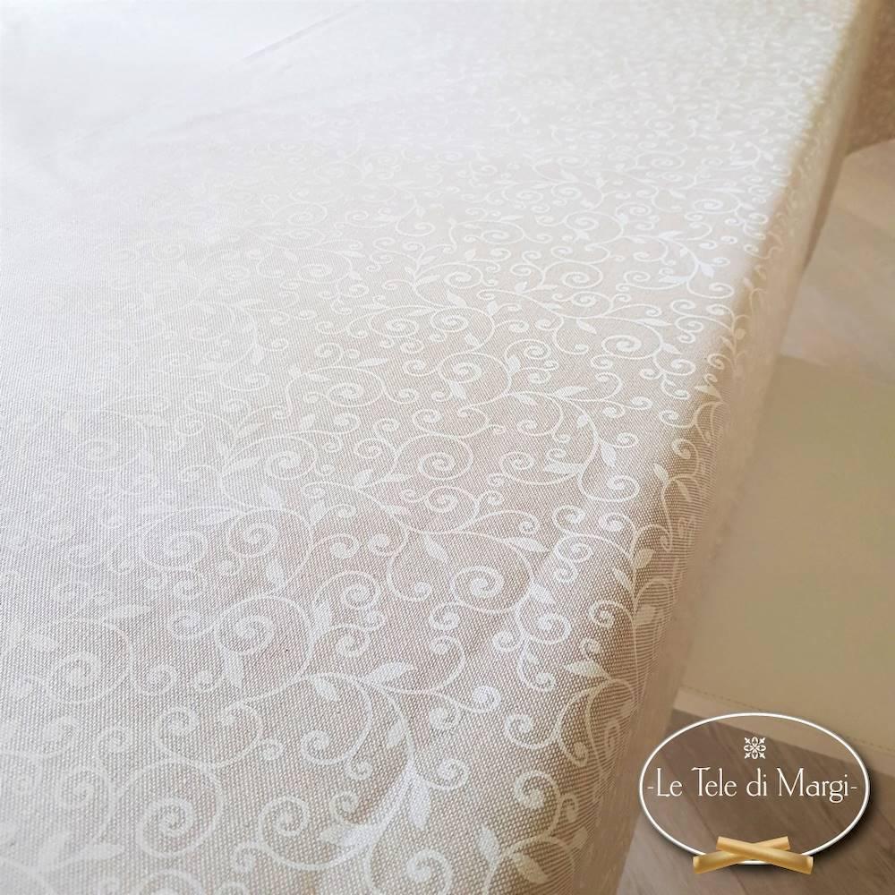 Tovaglia Ricamo bianco resinata 140 x 180