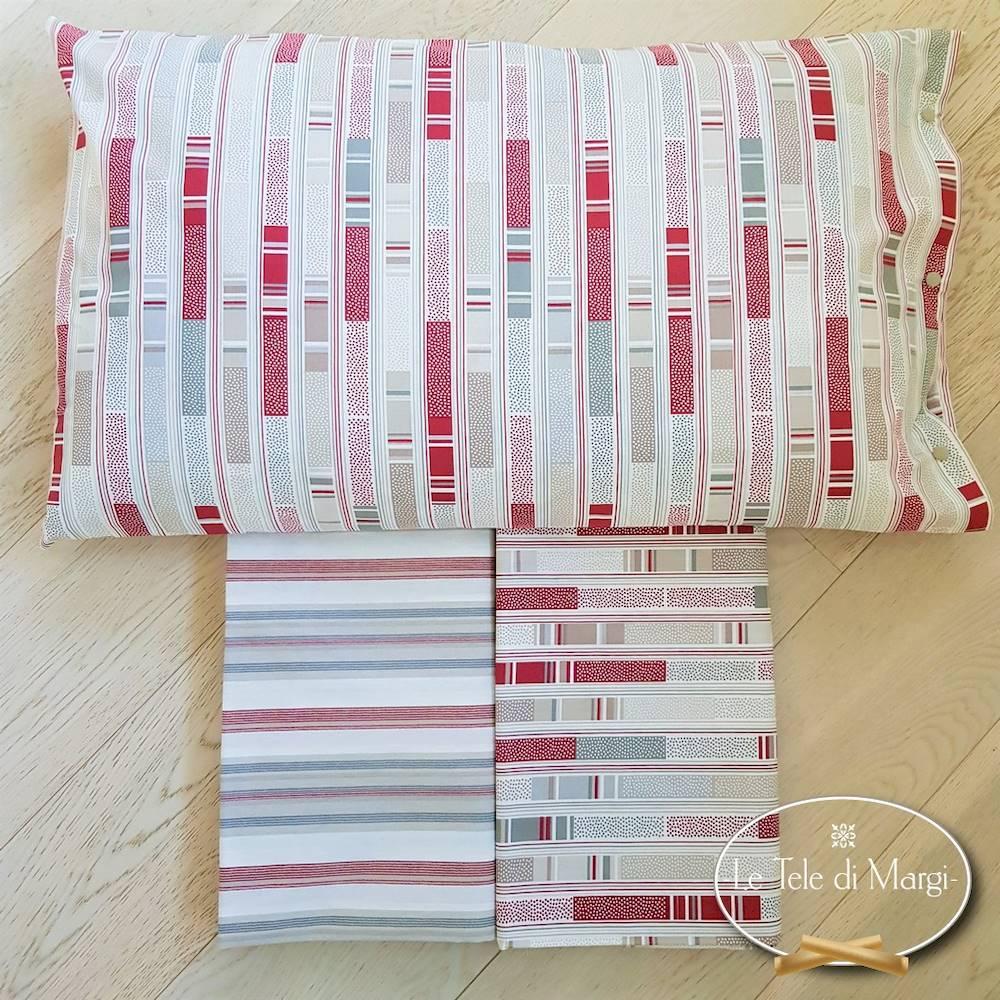 Completo Lenzuola Stecche rosso singolo
