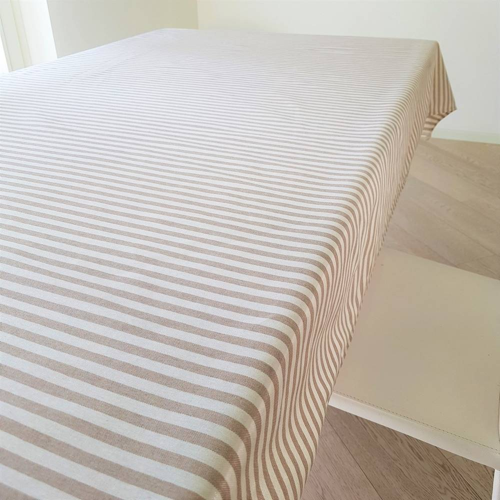 Tovaglia millerighe beige 140 X 180