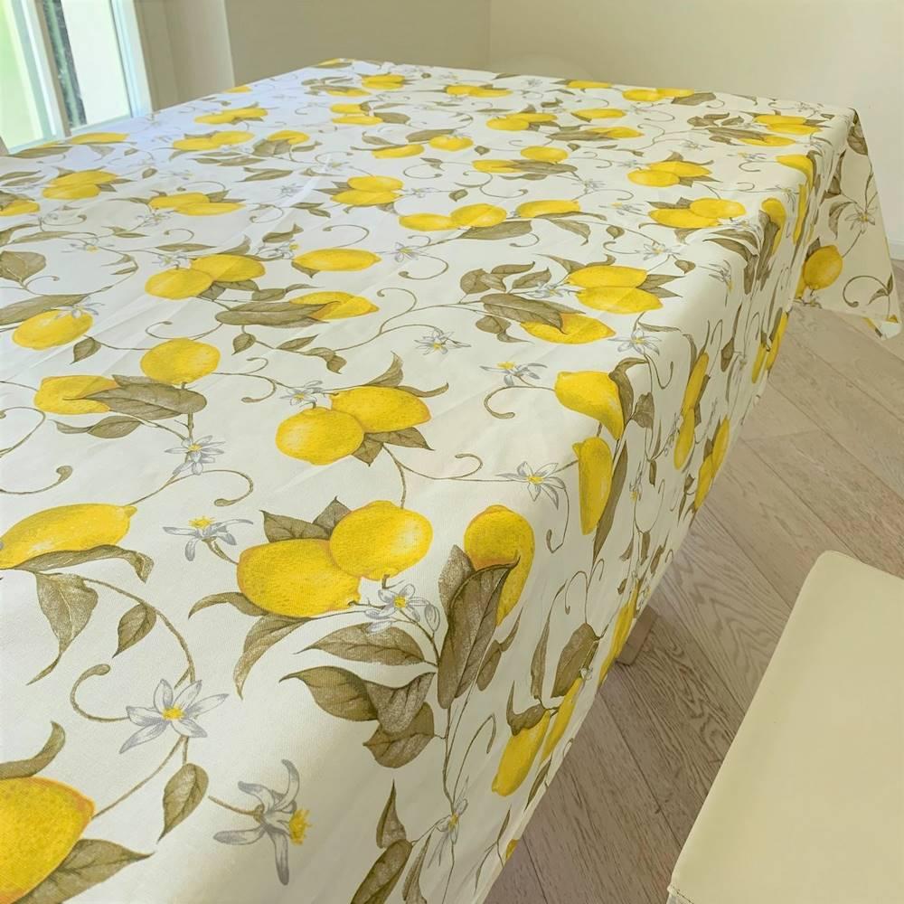 Tovaglia Limoni bianca 140 x 300