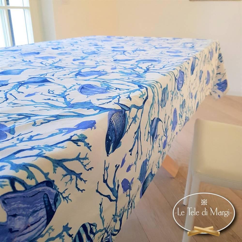 Tovaglia Caraibi blu 140 x 300