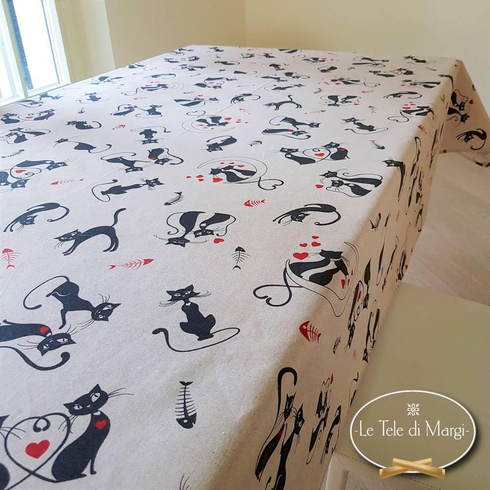 Tovaglia Gatti neri 140 x 240