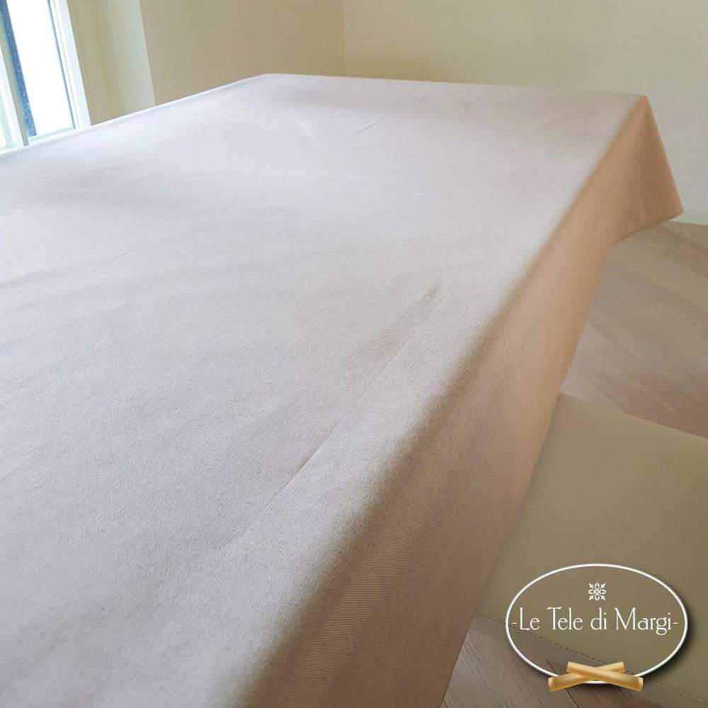 Tovaglia tinta unita beige 140 x 240