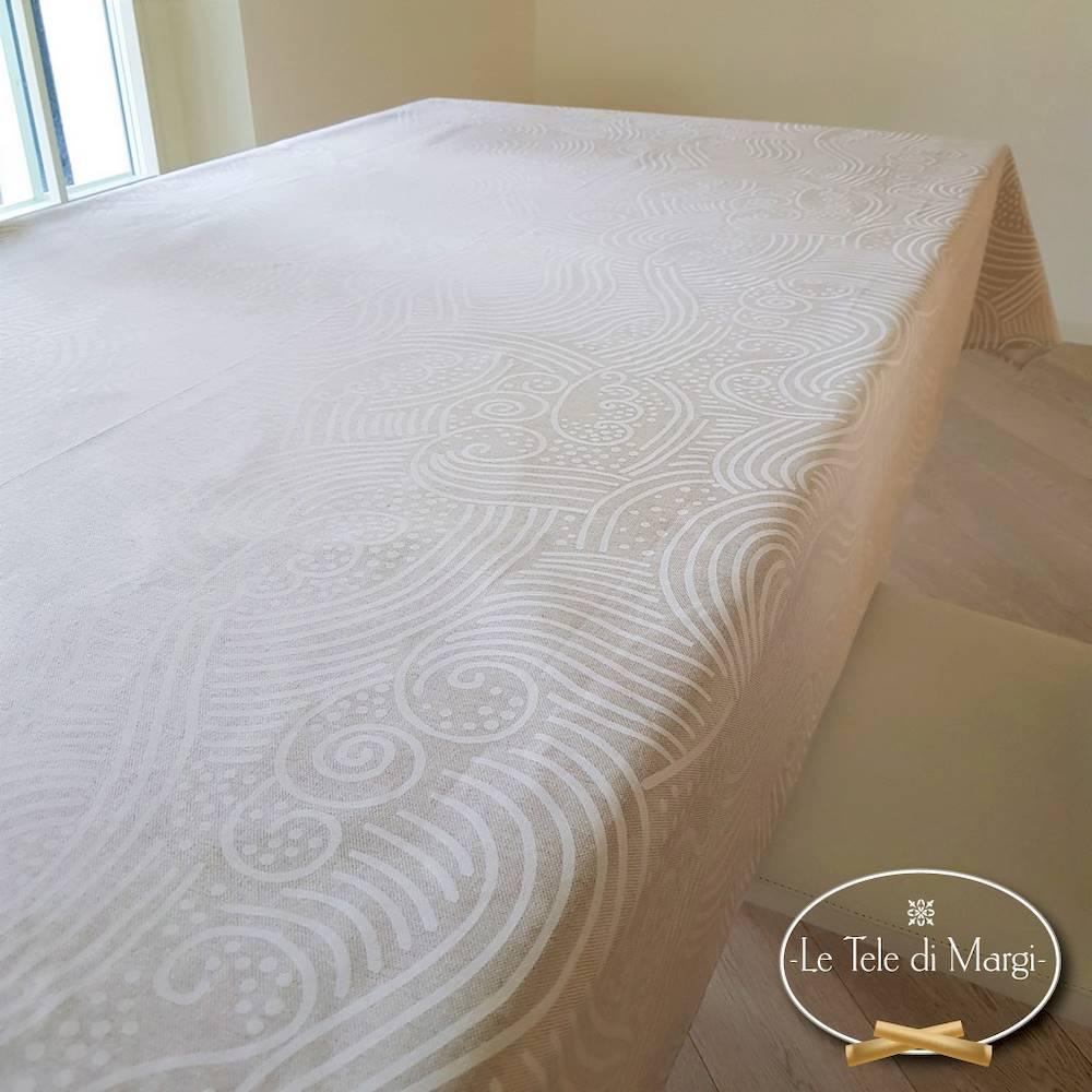 Tovaglia Onda bianca 140 x 240