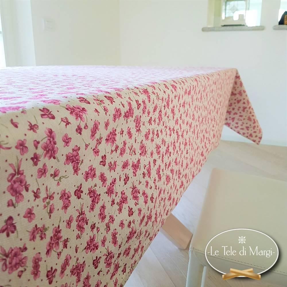 Tovaglia Violette rosa 140 x 140