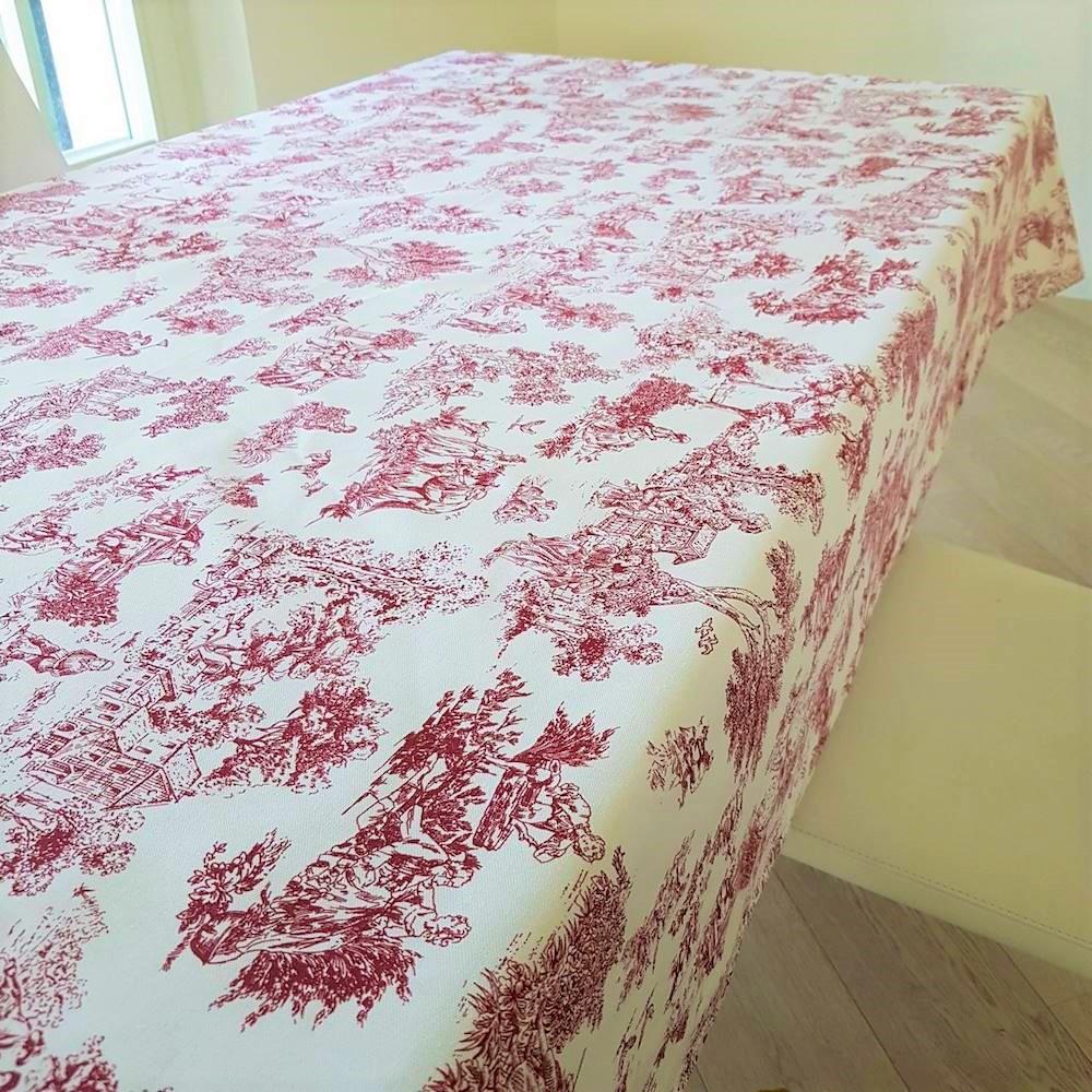 Tovaglia toile de joie rosso 140 x 140
