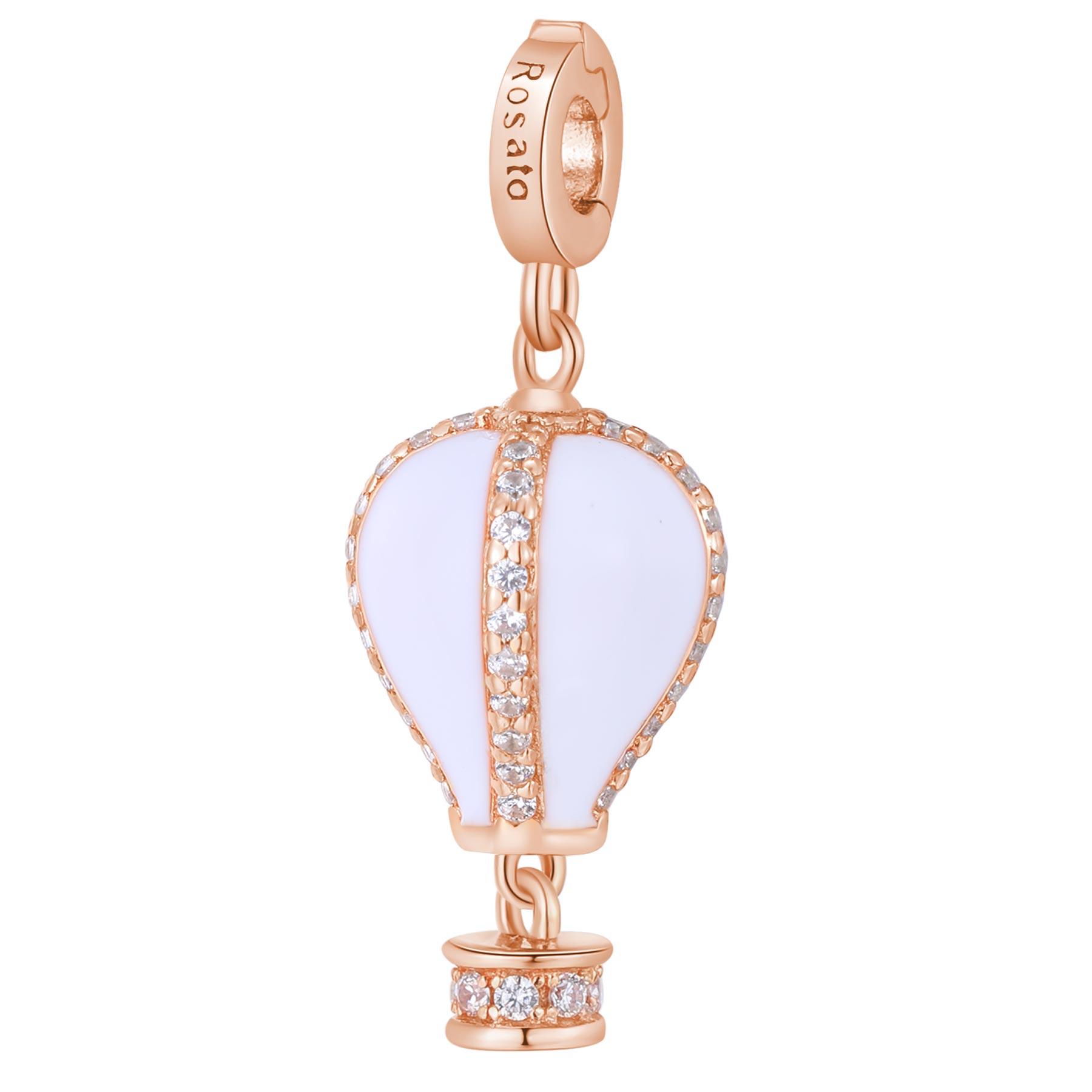 Charm Rosato in argento 925 placcatura rosè Mongolfiera- Quiete RZ187