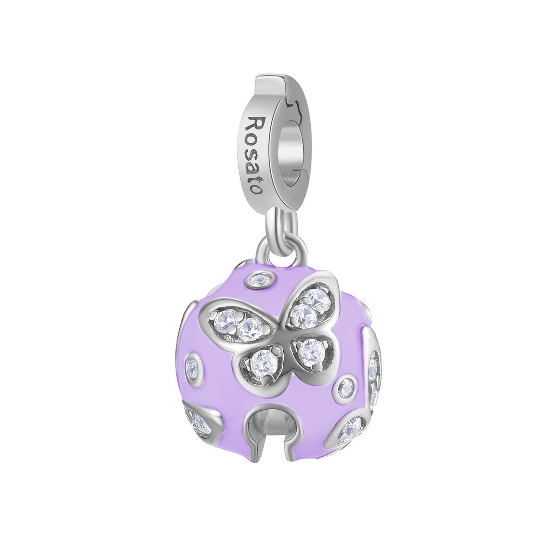 Charm Rosato in argento 925 con smalto rosa Libertà RZ178R