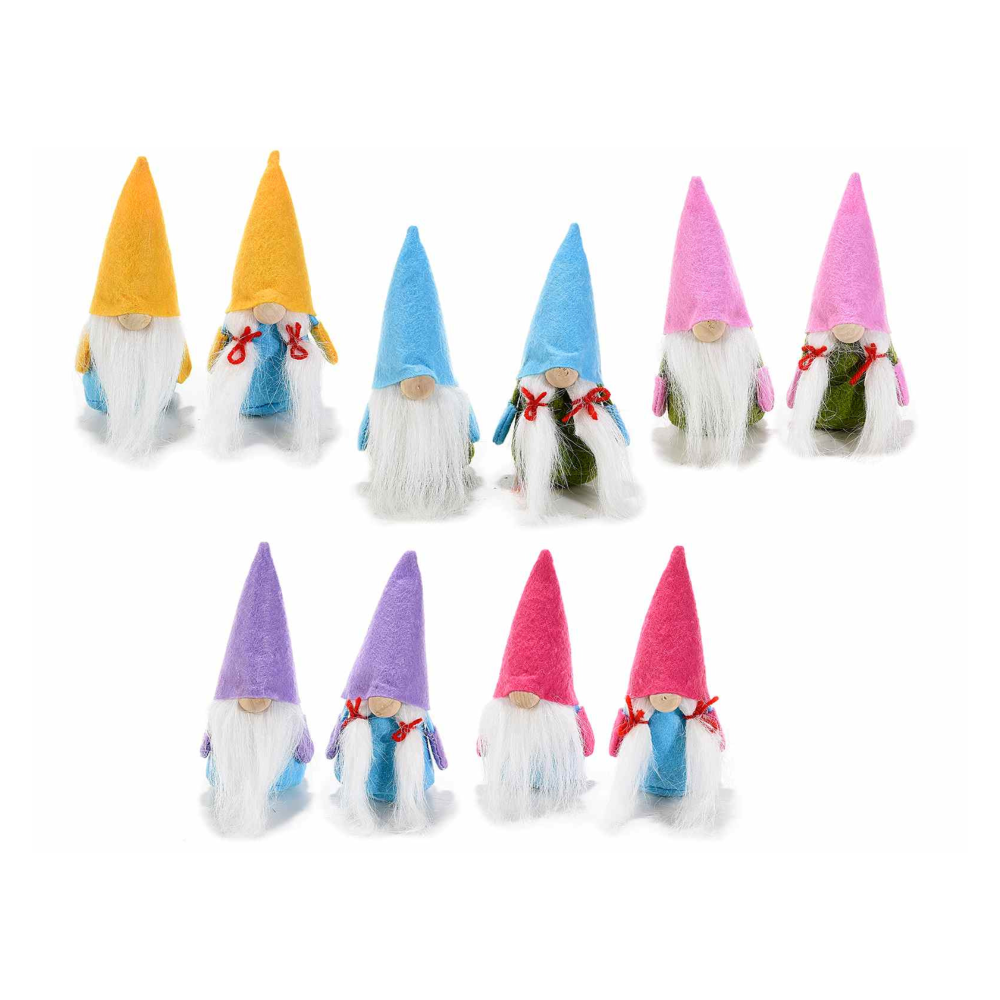 Gnometto panno con cappello e vestito colorati da appoggiare