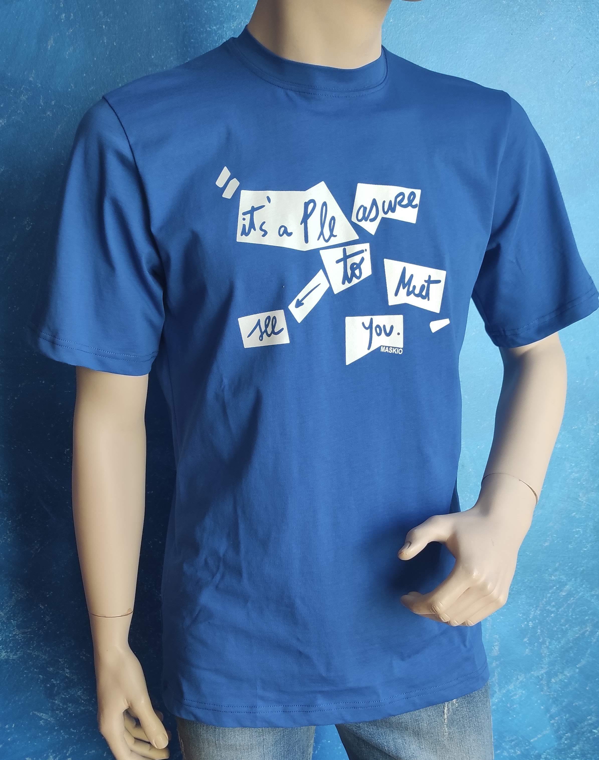 T-shirt royal Maskio