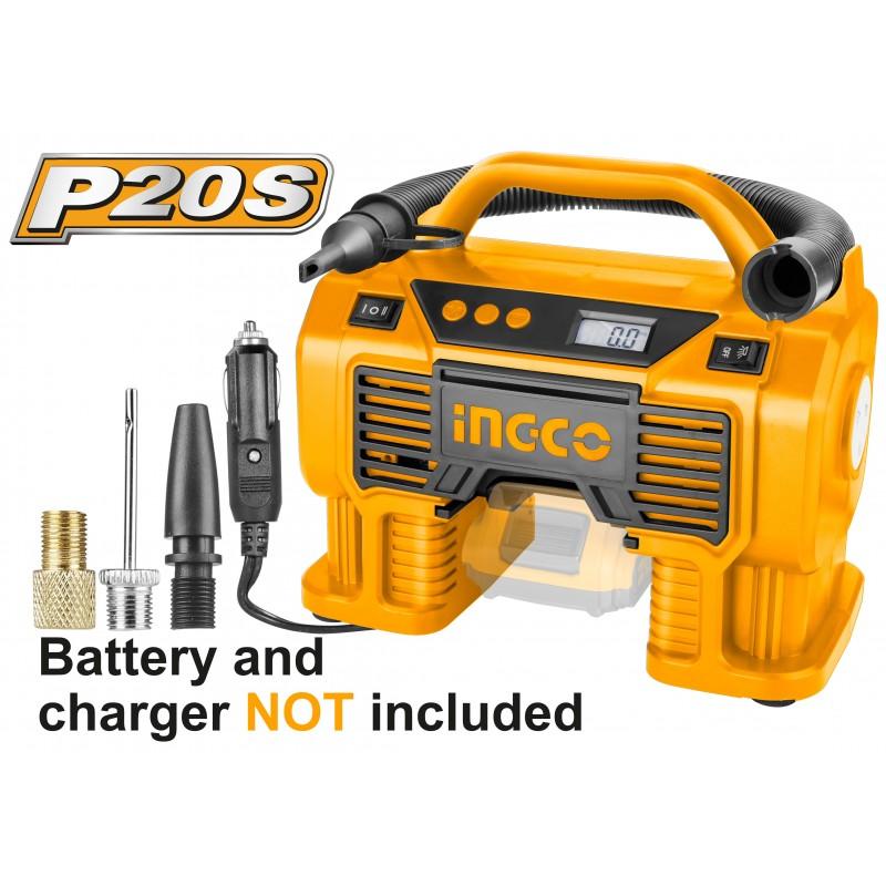 Compressore Auto Batteria a Litio 20V 11BAR Nudo INGCO