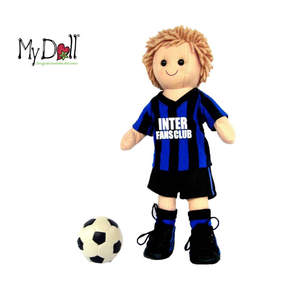 Bambolo Inter calciatore My Doll 42 cm