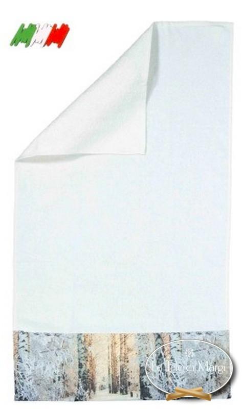 Asciugamani stampa Bosco d' inverno