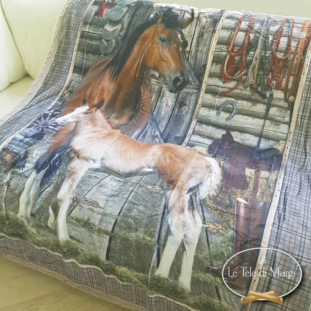 Plaid stampa digitale cavalli