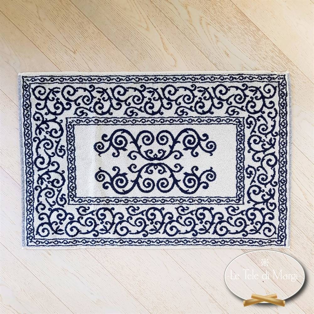 Tappeto barocco doubleface blu