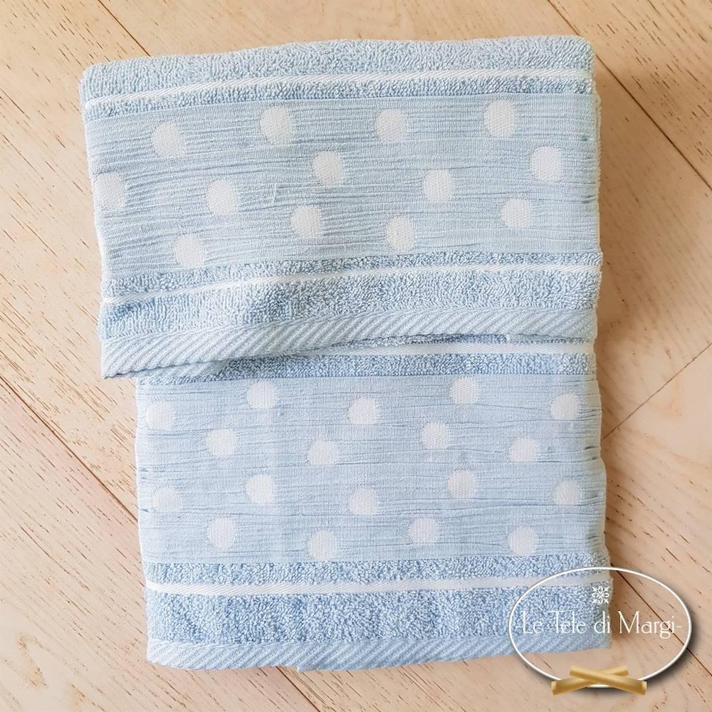 Asciugamani Pois Azzurro
