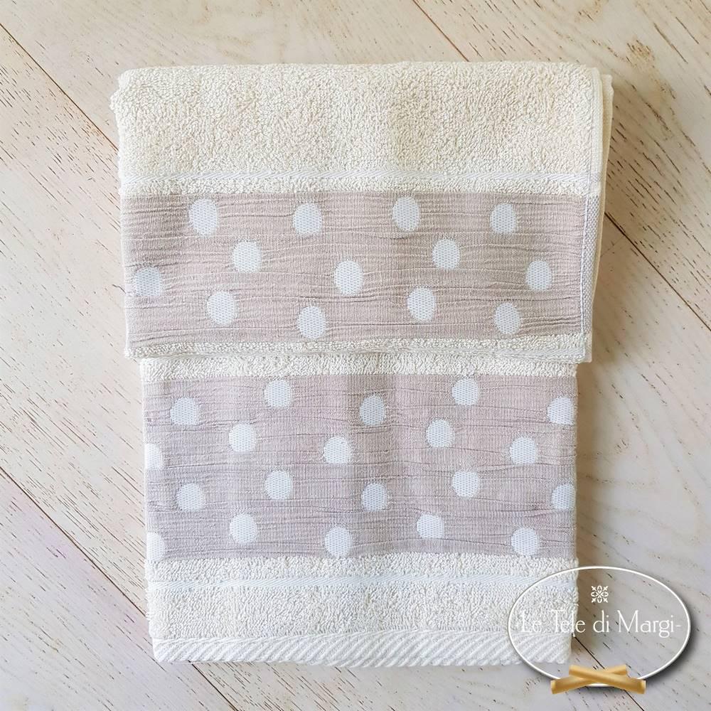 Asciugamani Pois Panna