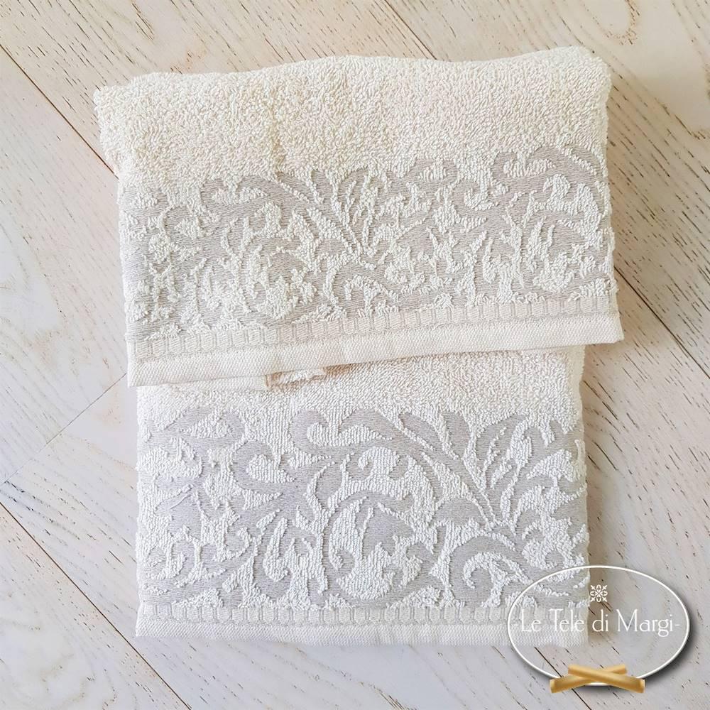 Asciugamani Arabesque lavorazione in lino
