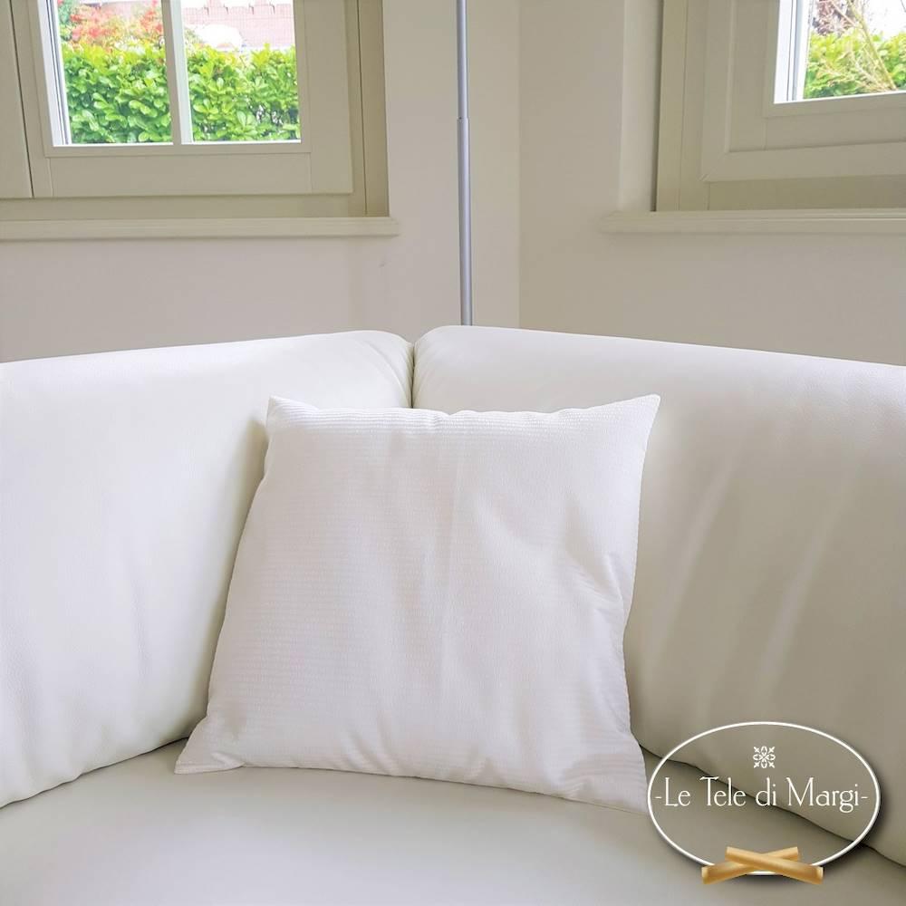 Fodera cuscino rasatello bianca 40 X 40