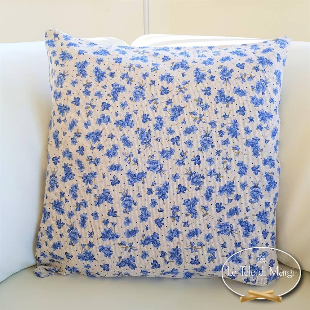 Fodera cuscino 40 x 40 violette blu