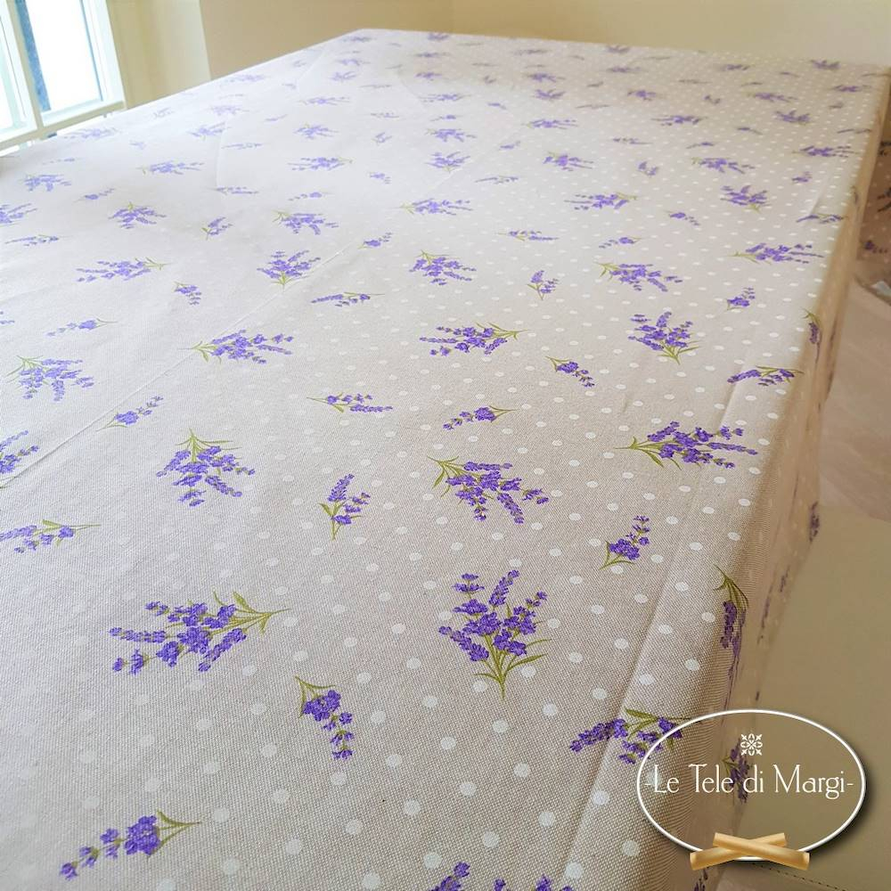 Tovaglia mazzetti di lavanda resinata 140 x 240