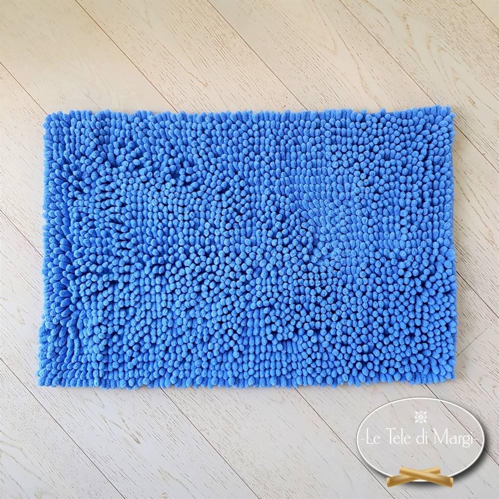 Tappeto antiscivolo passatello azzurro 50 x 80