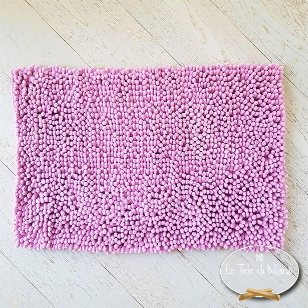Tappeto antiscivolo passatello rosa 50 x 80