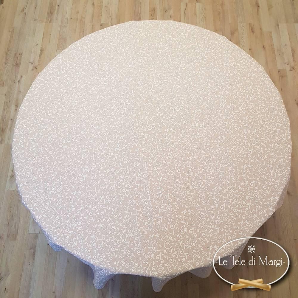 Tovaglia rotonda ricamo bianco