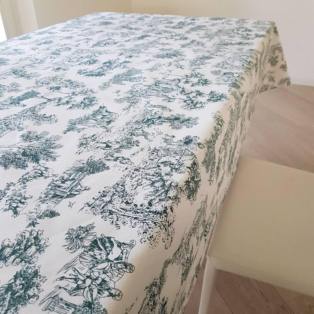 Tovaglia toile de joie verde 140 x 360