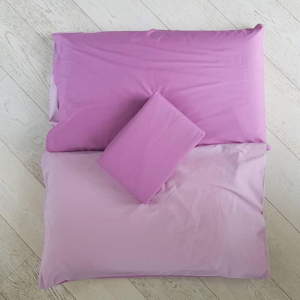 Sacco piumino percalle tinto in filo rosa