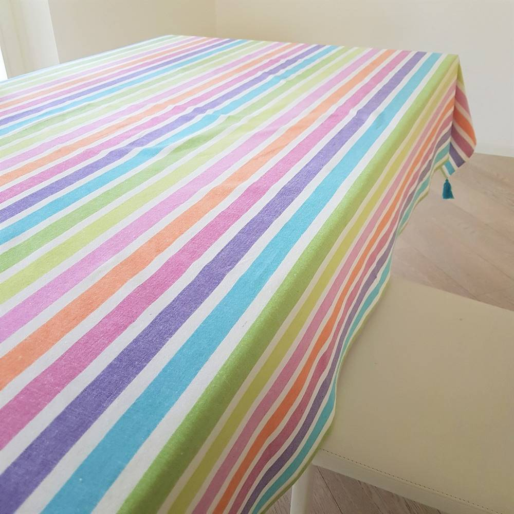Tovaglie tinto in filo Arcobaleno 140 X 240