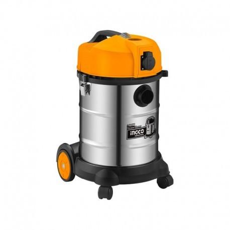 Bidone Aspirapolvere-Liquidi INOX 1200W 30lt INGCO