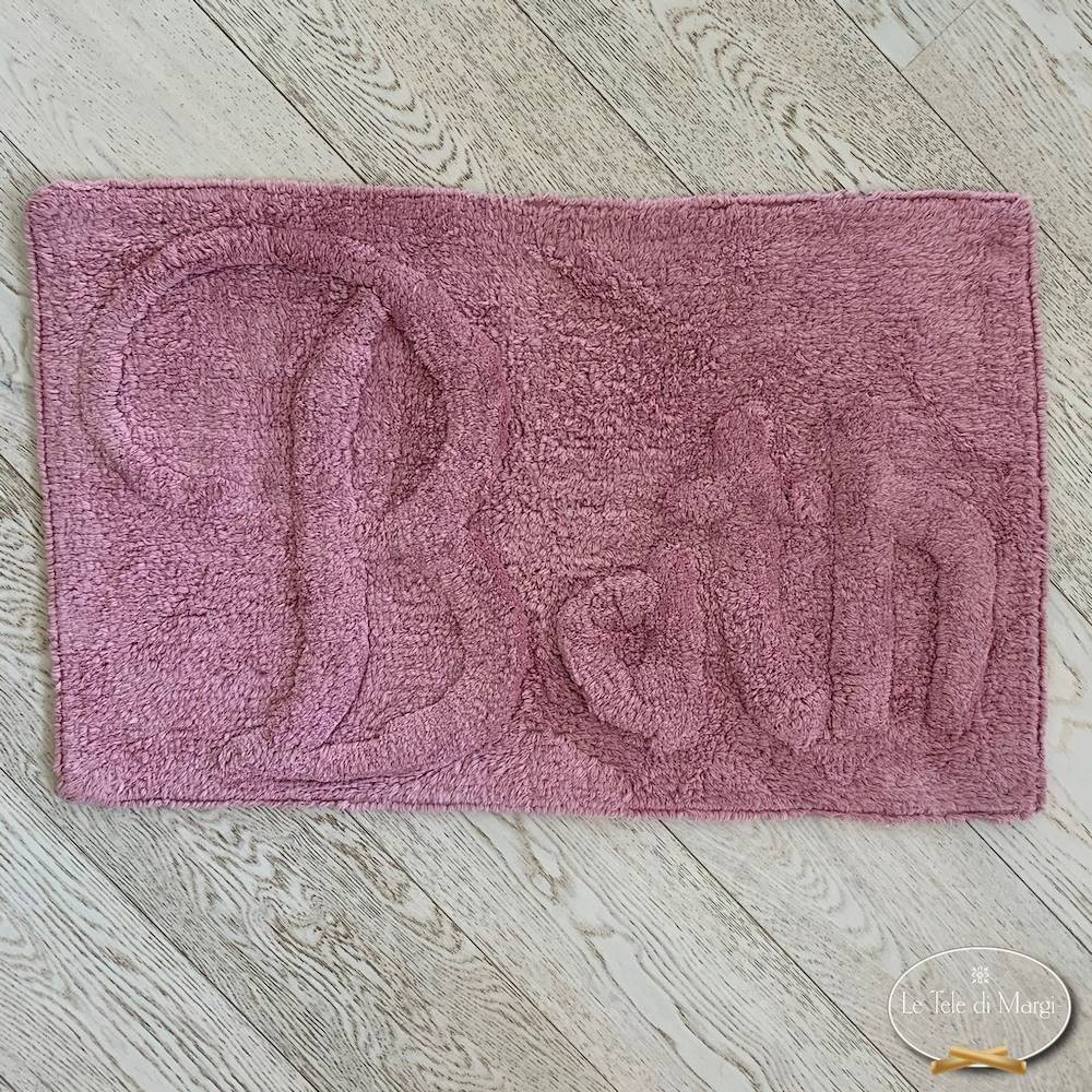 Tappeto Bath rosa 50 X 80