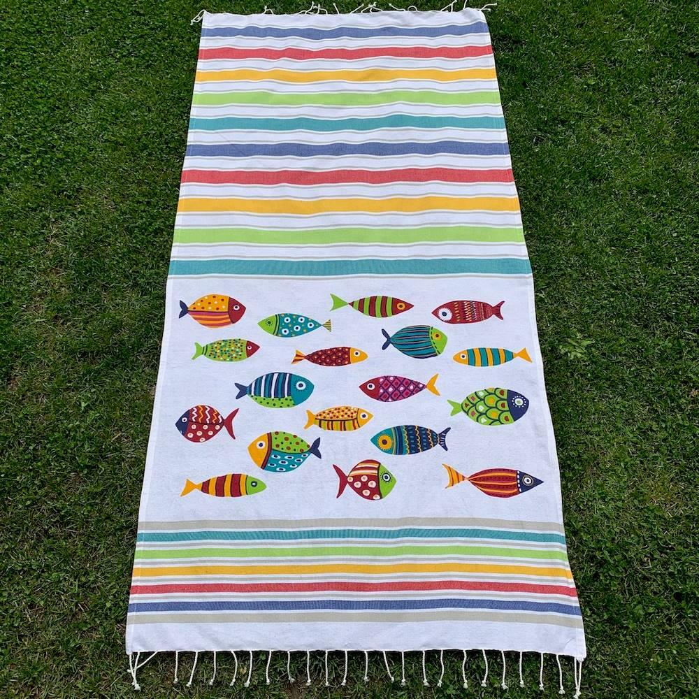 Fouta Telo Mare Fish multicolor