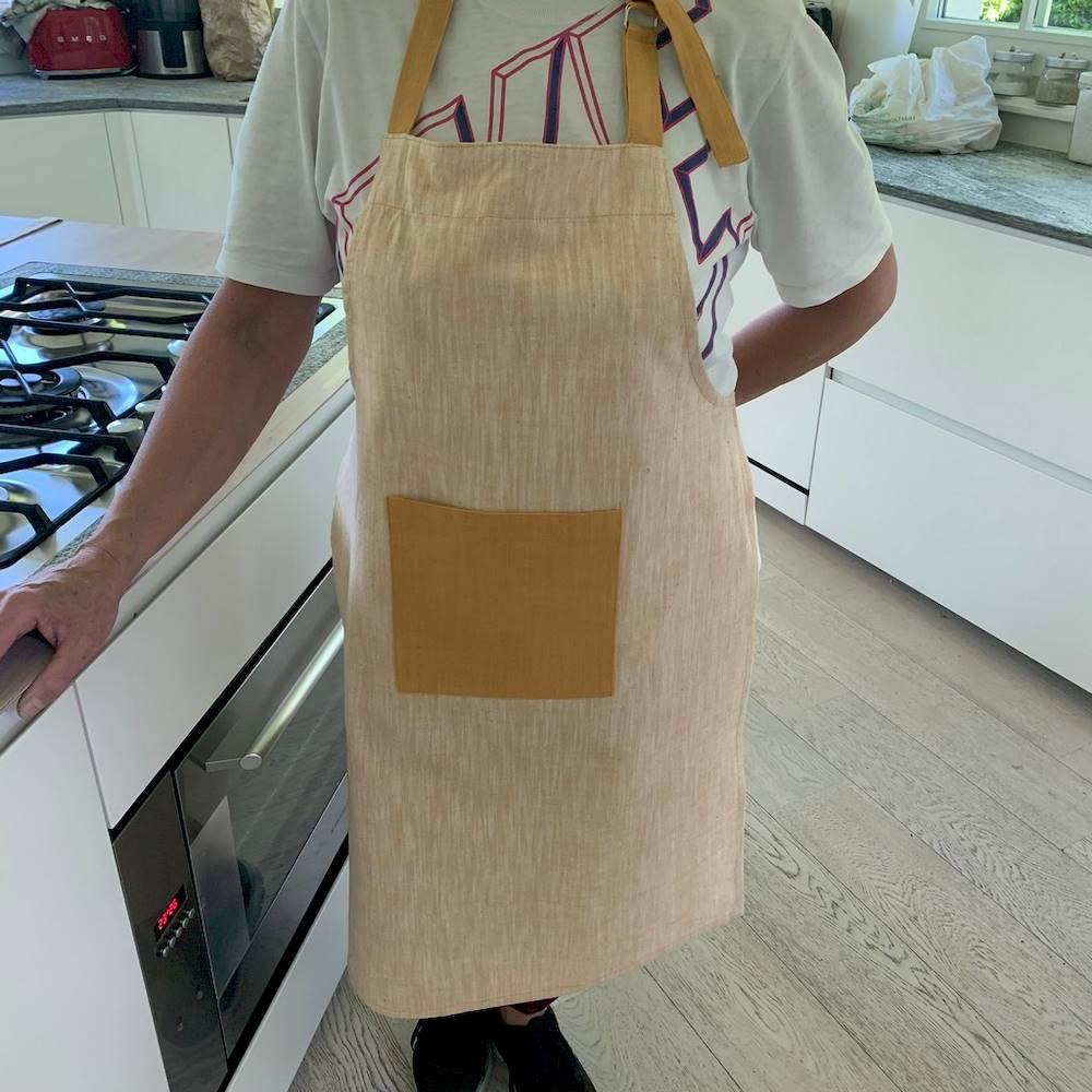 Grembiule da cucina giallo bicolor