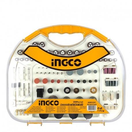 Set da 250 Accessori per Smerigliatrice a Stelo MG1309 INGCO