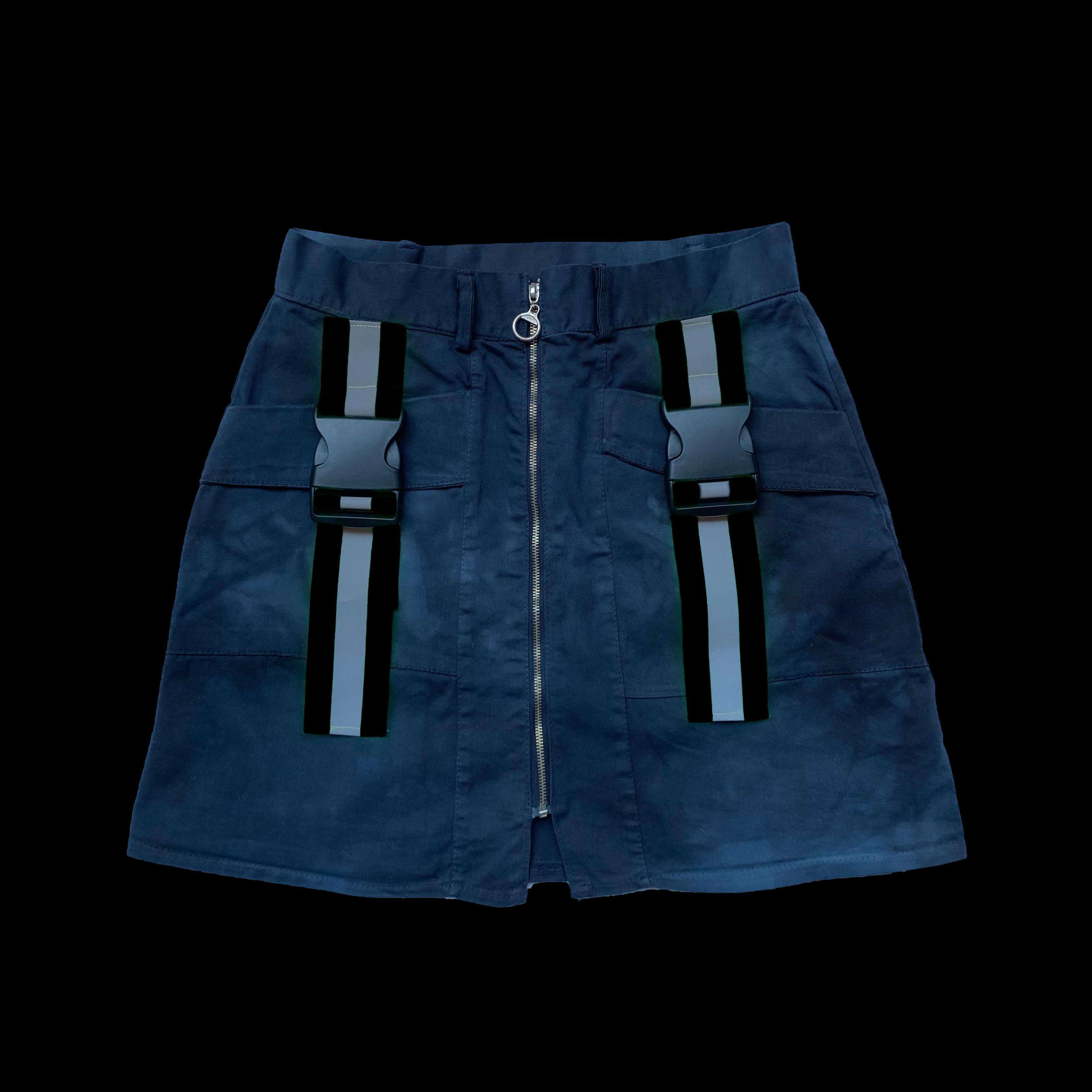 REFLEX SKIRT - BLACK BANDS