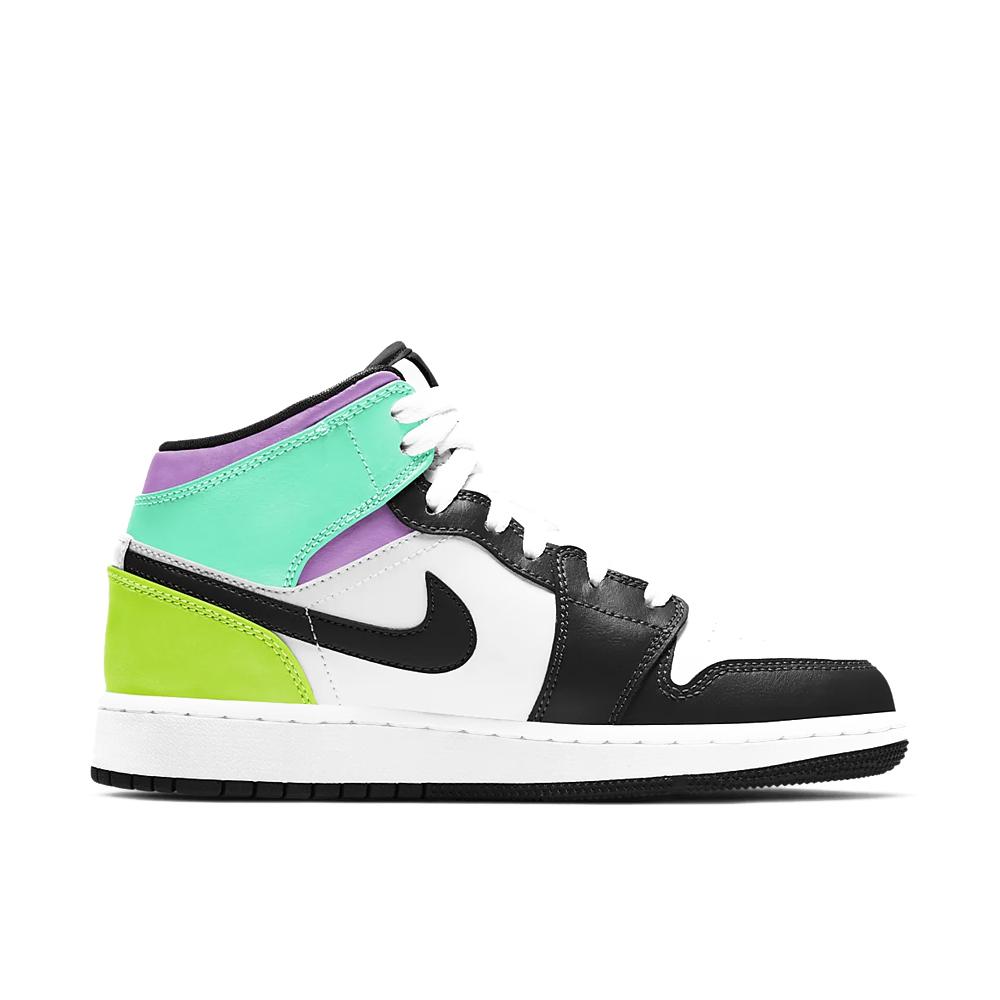 Jordan 1 Mid Pastel Black Toe